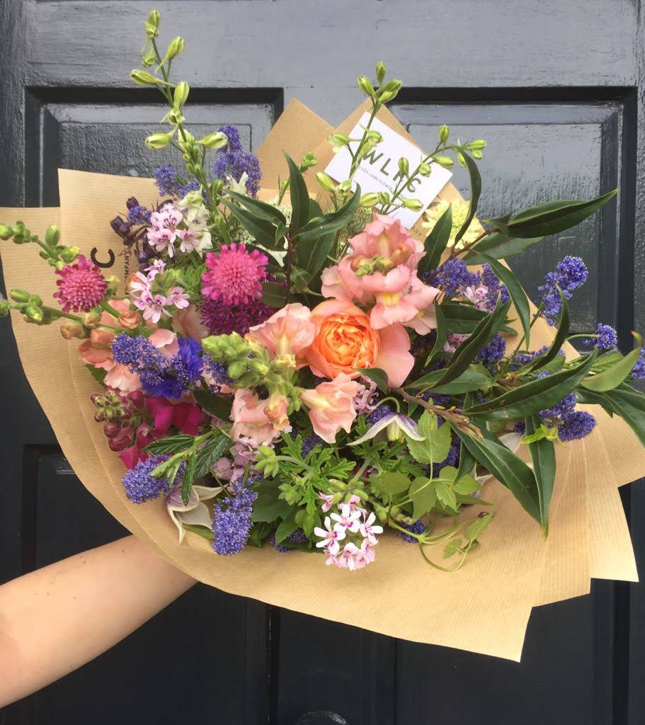 Seasonal London grown bouquet of flowers