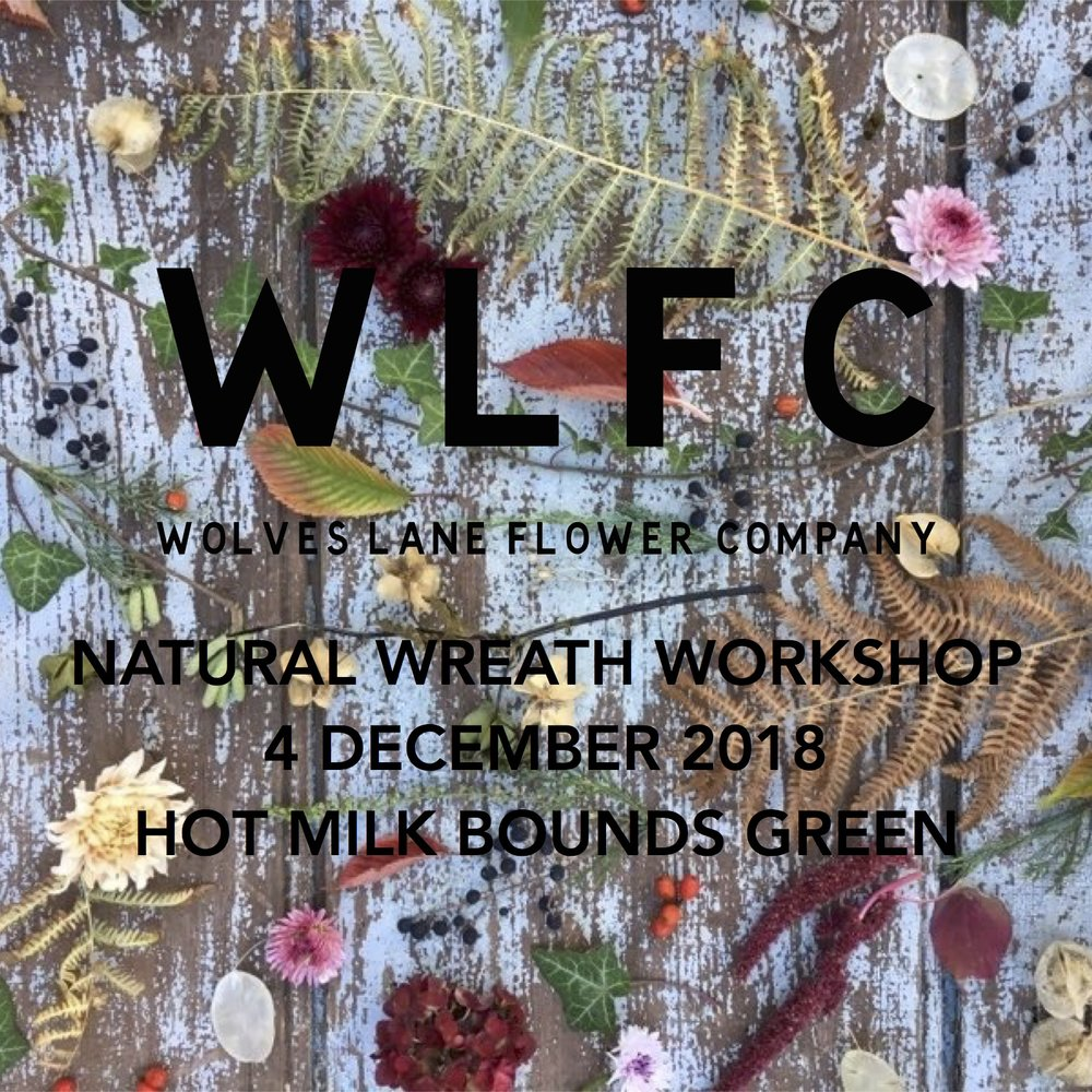 Seasonal Natural Christmas & Festive Wreath Workshop London