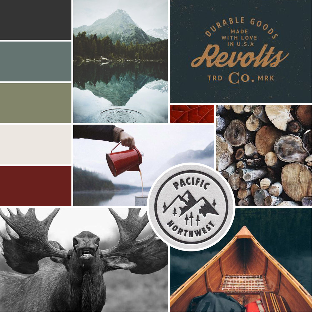 Mountain /  Revolts /  Kettle /  Leaf /  Fire Wood /  Pacific Northwest /  Moose /  Canoe
