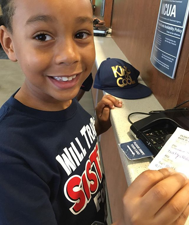 Teaching children financial literacy is an absolute must!  Today I took my son to deposit his first check and as parents we were there to support this milestone. It is imperative that we celebrate this as we would a graduation....from the school of finance.  Congratulations J 🎉🎉🎉!!! #kidpreneur #billionairemindset #focused @jadenhrt