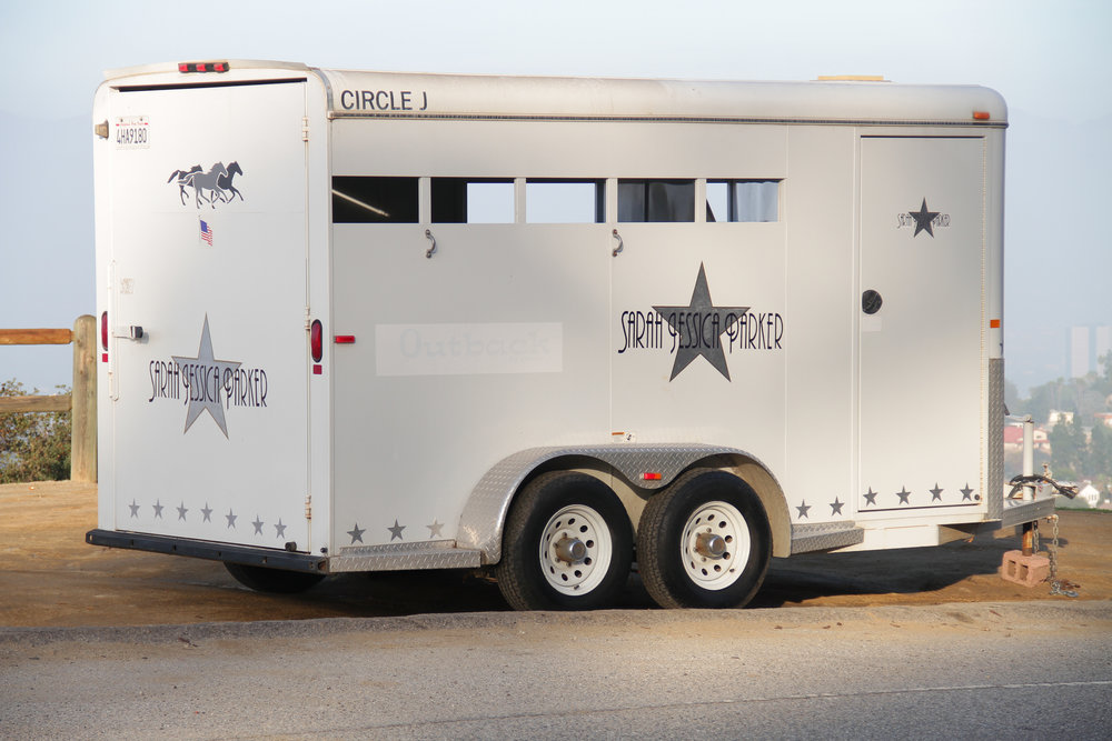 Sarah Jessica Parker Movie Star Horse Trailer    Painted horse trailer | Dimensions variable | 2012