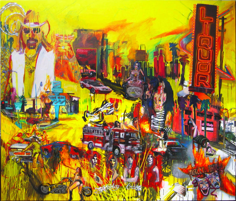 Music To Crash Your Car To (Featuring Vince Neil)  Oil on canvas | 65 x 78 inches | 2008