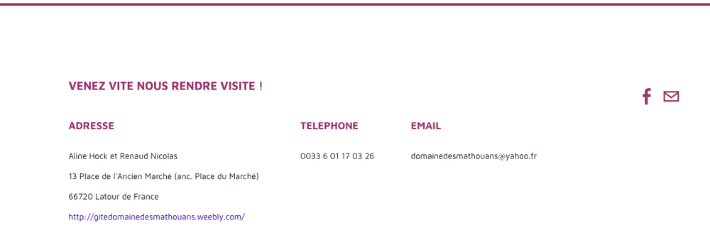 Contact information now as a banner at the bottom of every page