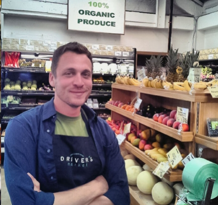 - Graham Driver joined his brother Adam in 2012 to open Driver's Market in Sausalito. From the start their goal has been simple but powerful: To connect people with each other and to the foods that they eat. Today Driver's is a thriving grocery store that also serves as a treasured community hub.