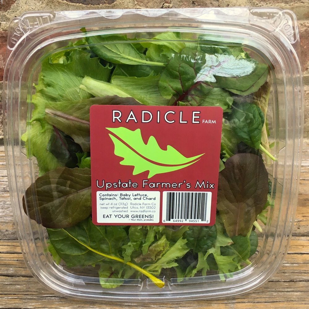 UPSTATE FARMER'S MIX - Romaine, Spinach, Tatsoi, Baby Chard