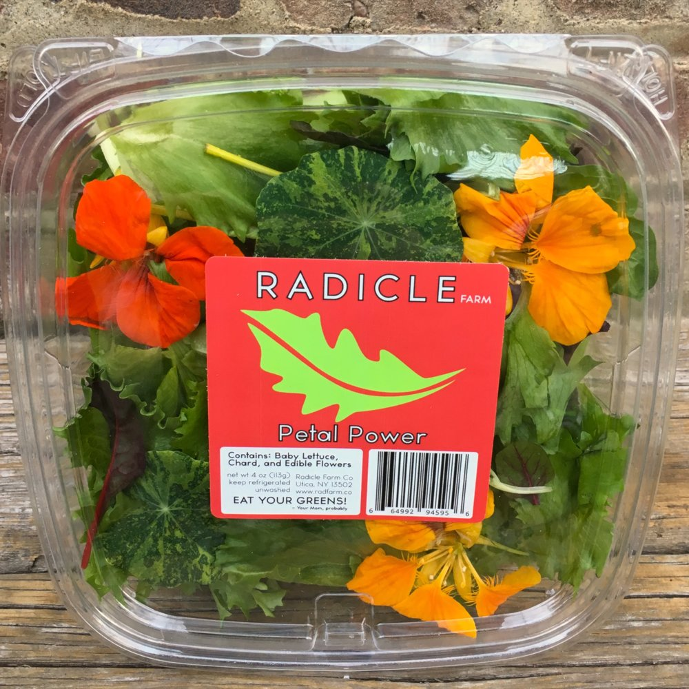 PETAL POWER - Romaine, Baby Chard, Beet Greens, Edible Flowers