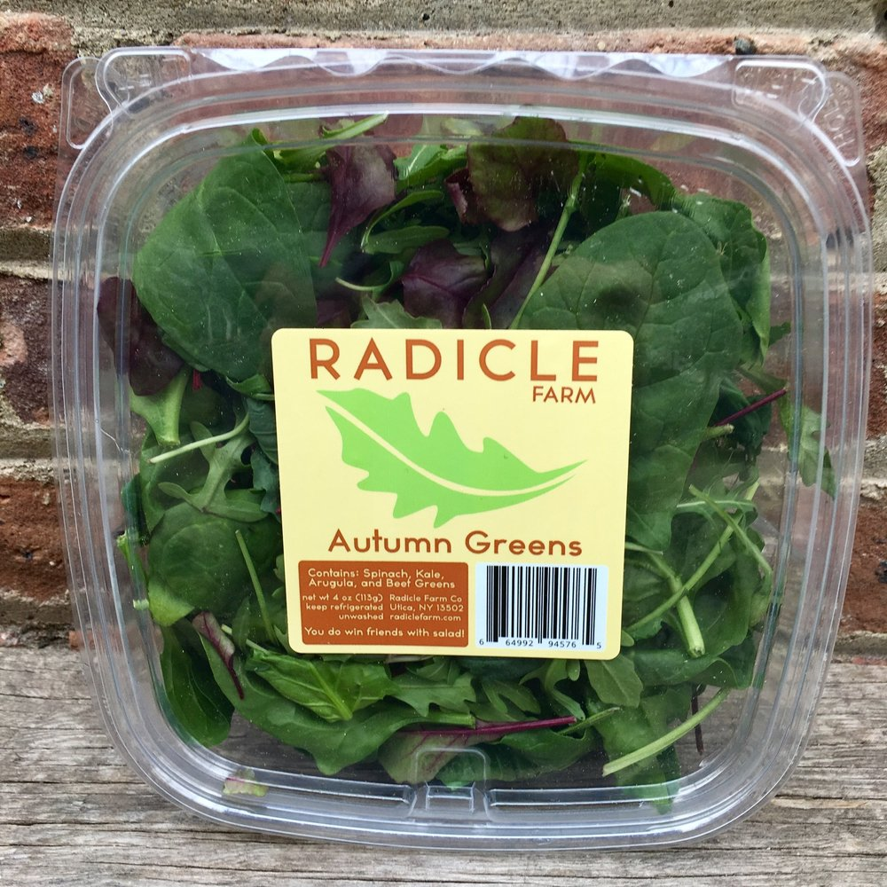 Autumn Greens - Spinach, Kale, Arugula, Beet Greens