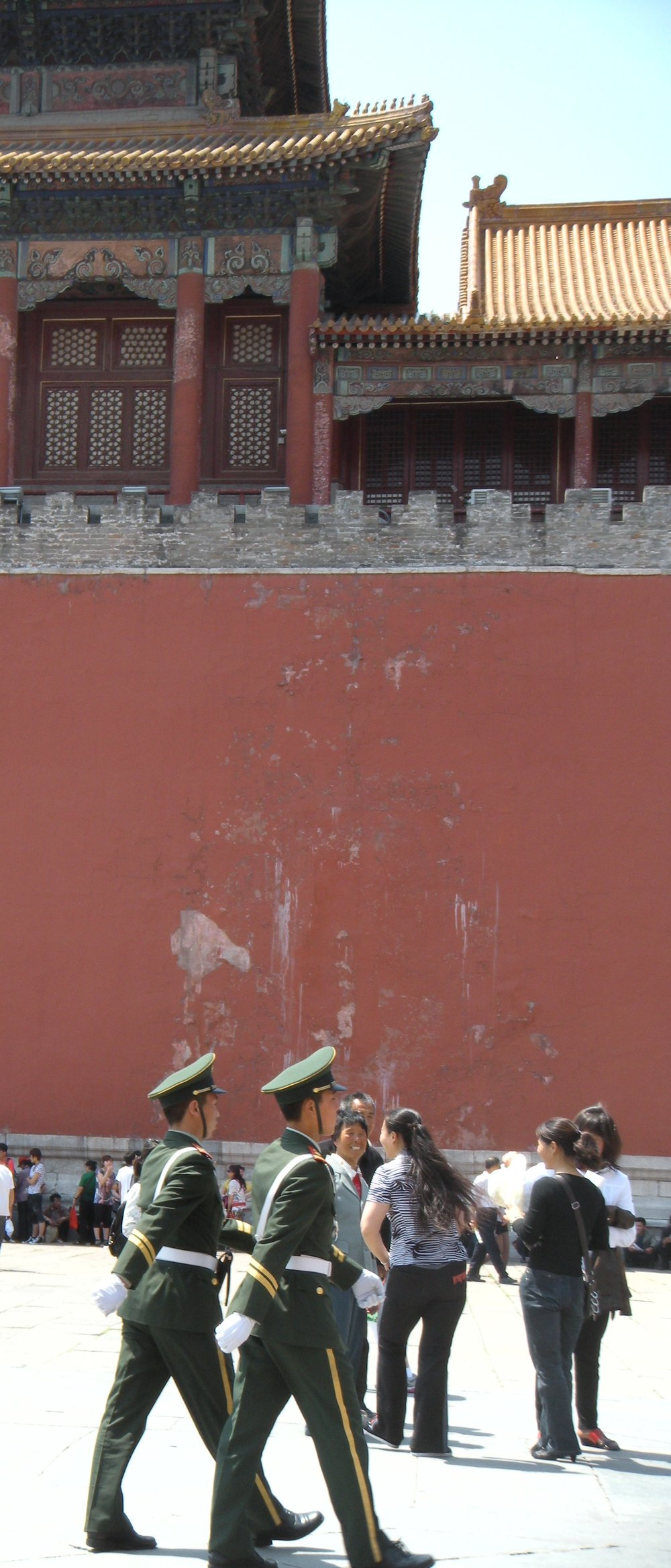 We're guards. Outside the Forbidden City