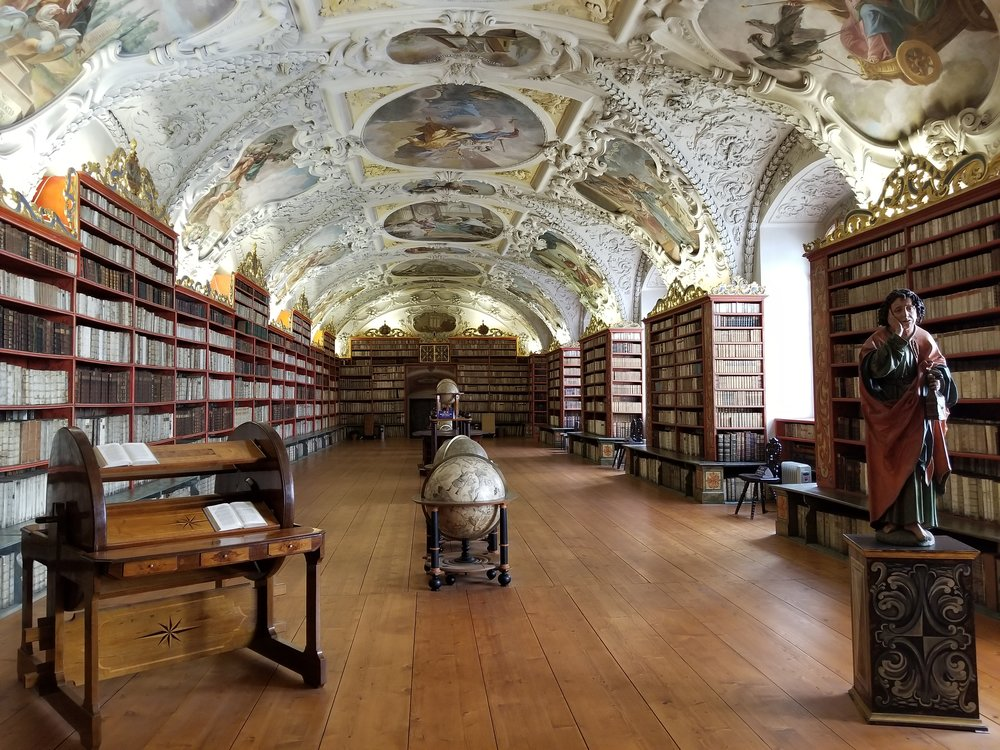 One of the libraries at the Strahov Monastery