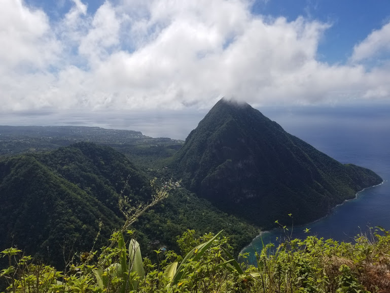 View from the top of Petit Piton