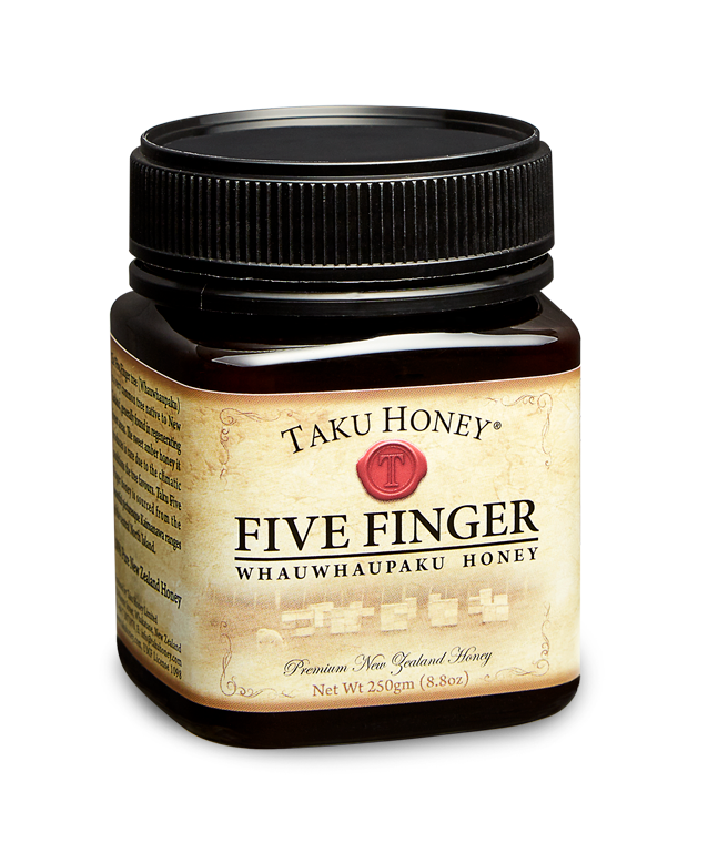 Taku Five Finger  A rare and delicately sweet honey, produced late in winter when bee numbers and sunny days are scarce.