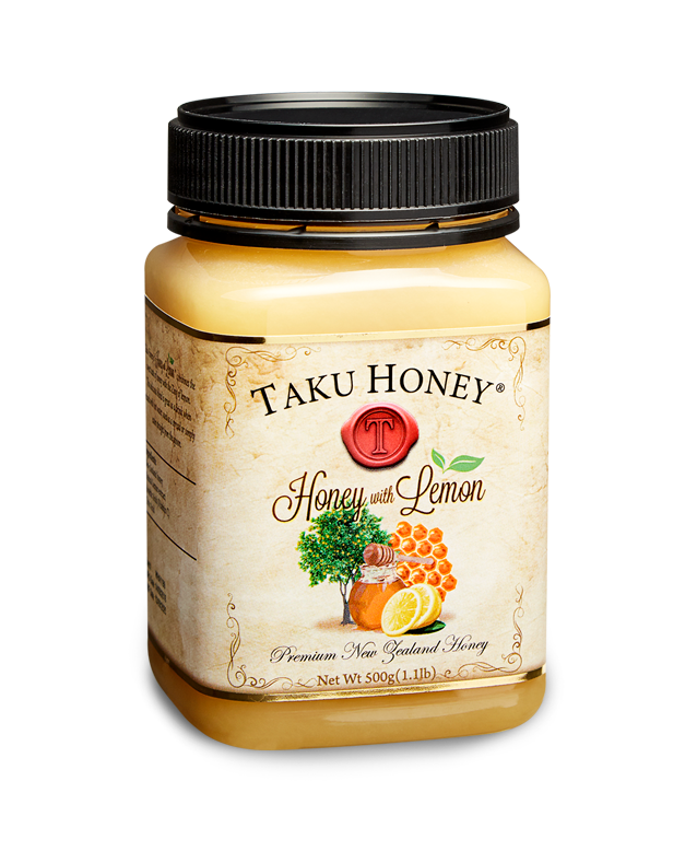 Honey with Lemon  A combination of the sweet taste of honey and the zing of lemon, this delicious blend is great mixed into hot water, or spread on your morning toast.