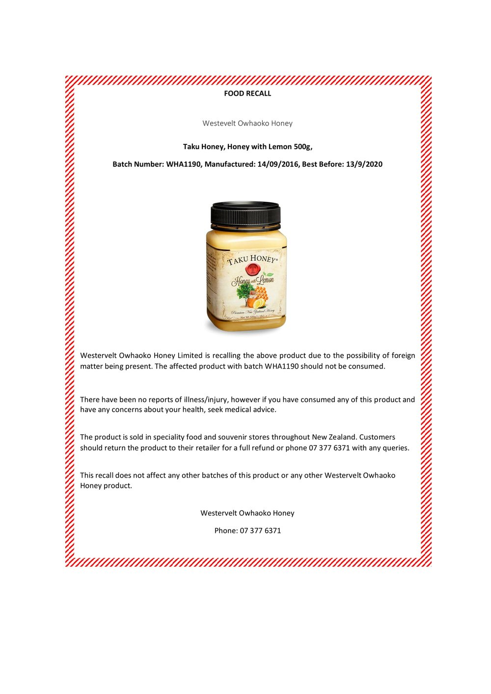 Recall Notice - Taku Honey with Lemon - November 2017-1.jpg