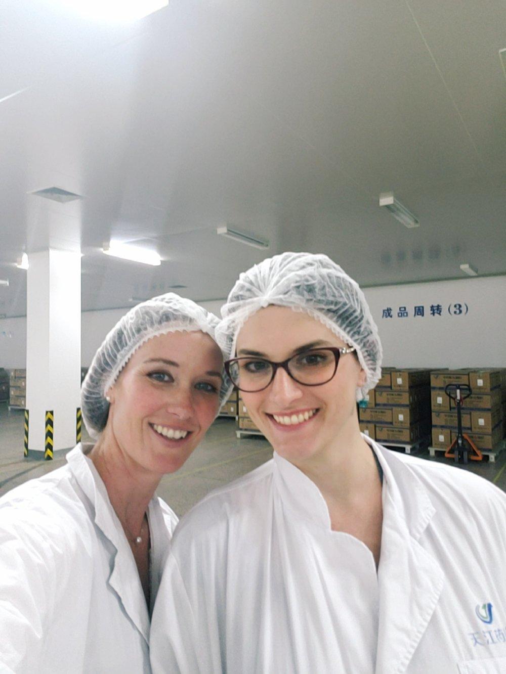 Angela and Bruna at the hospital in China