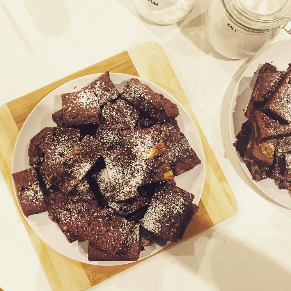 Dark Chocolate and Walnut Brownies