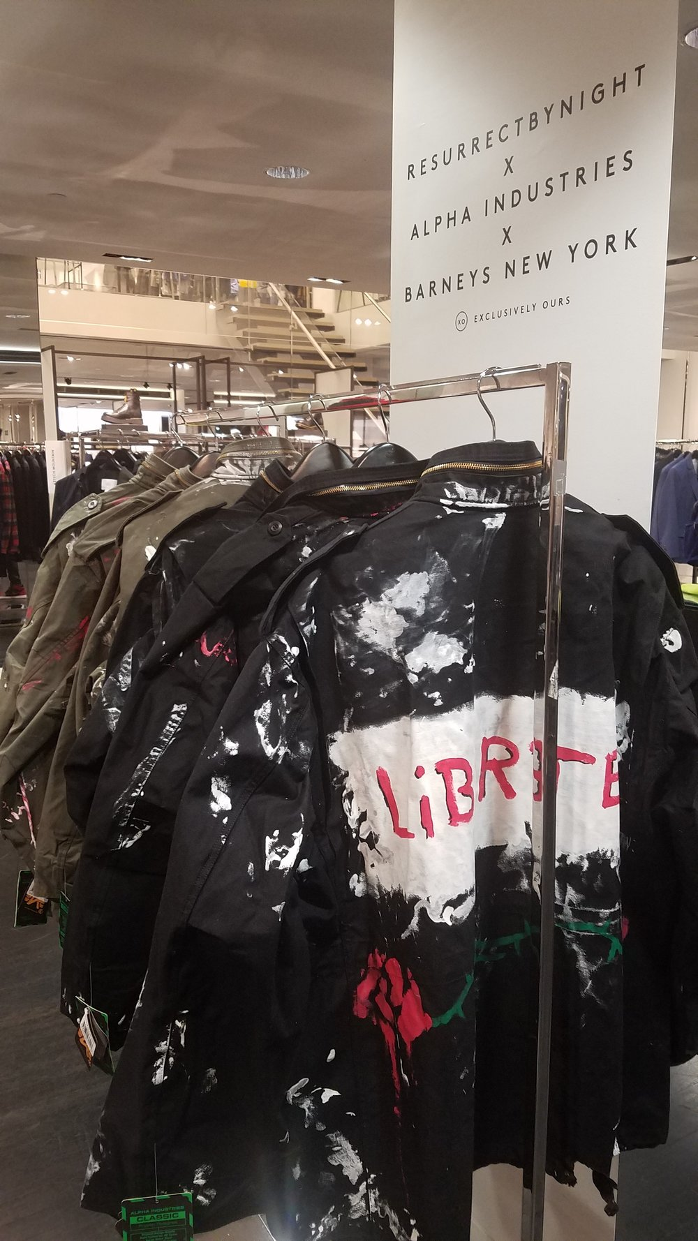 Resurrect by Night x Alpha Industries x Barneys