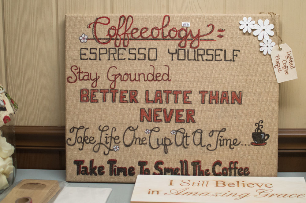 Homemade Coffeeology sign $45 in store!