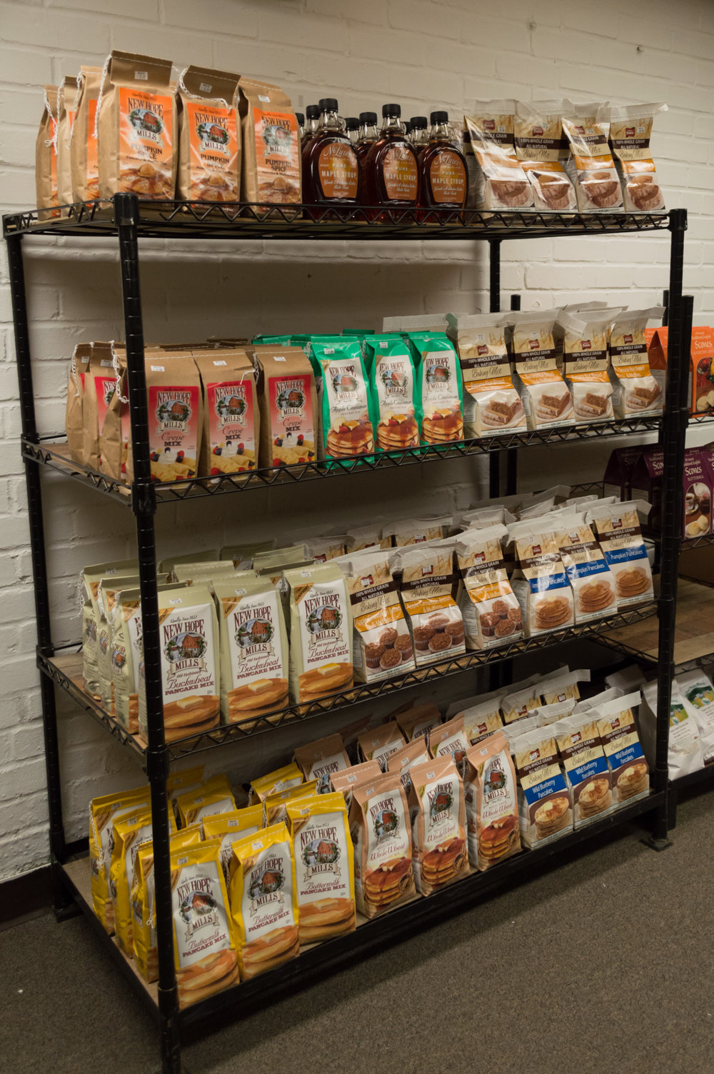 New Hope Mills pancake mixes & Pure Maple Syrup!