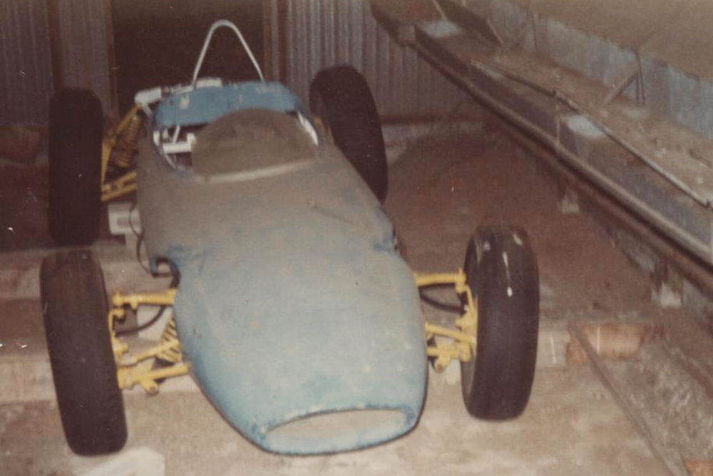 The original car as found in an old chook shed in Werribee.