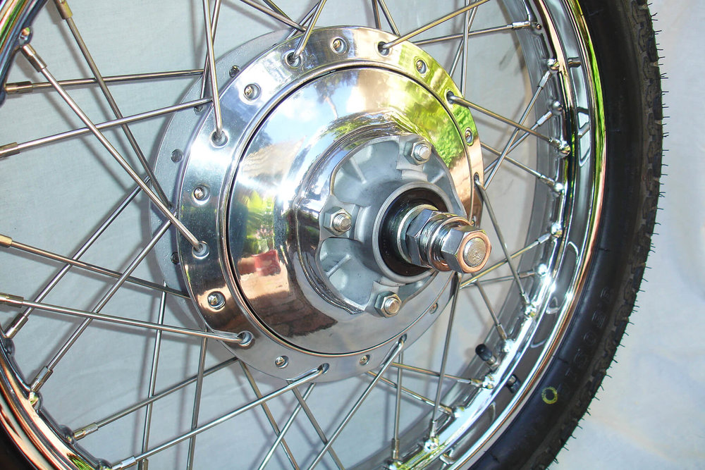 Restored 1960's Yamaha wheel