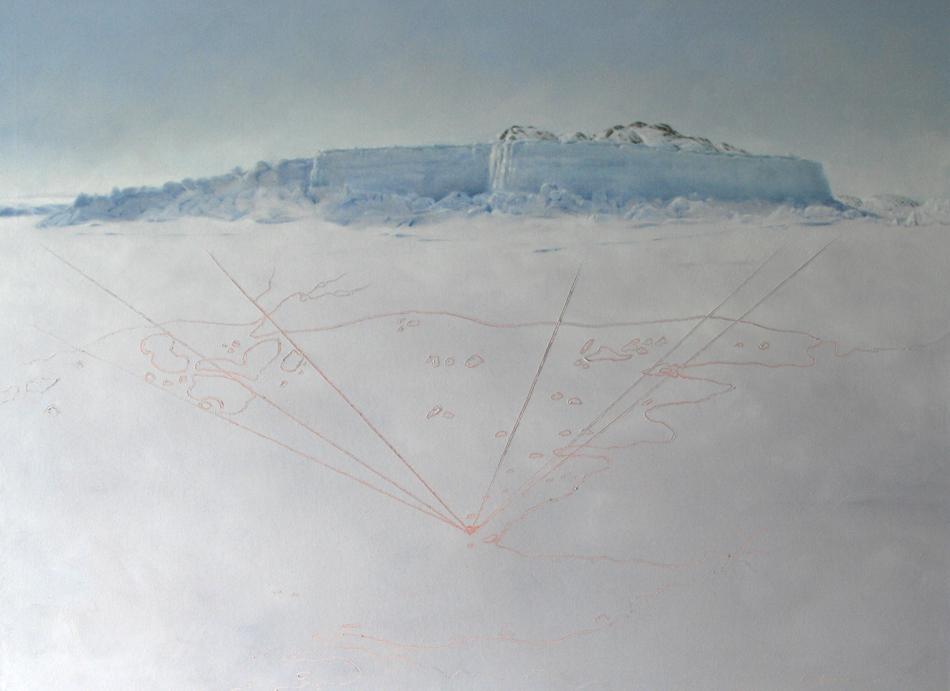 Near Qamaviq,  Oil on Canvas.
