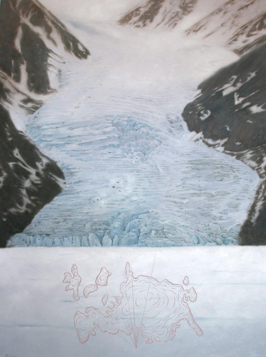 Dannys' Glacier,  Oil on Canvas.