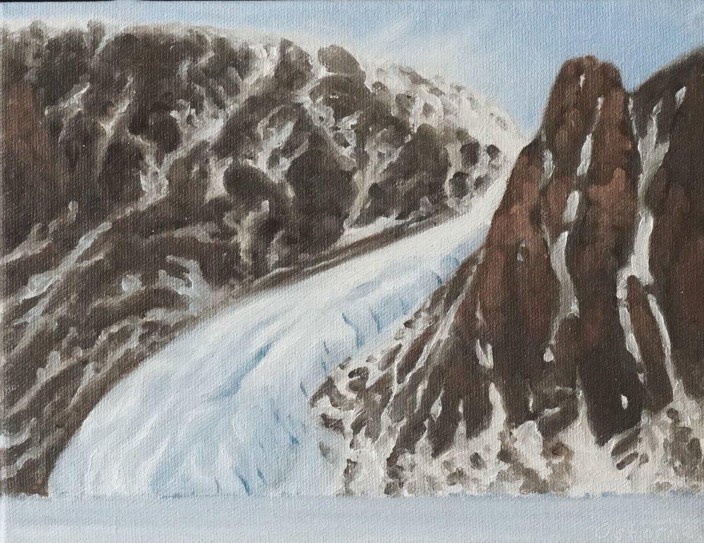 Glacier Camp , Oil on Canvas.