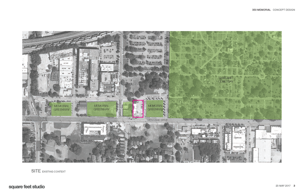 The Harp Transmission project seeks to become an integrated part of the Memorial Drive Greenway. The indoor/outdoor plaza space will serve as a transit-oriented meeting hub for the surrounding residents of Grant Park, Downtown, Cabbagetown, Summerhill and Old Fourth Ward.