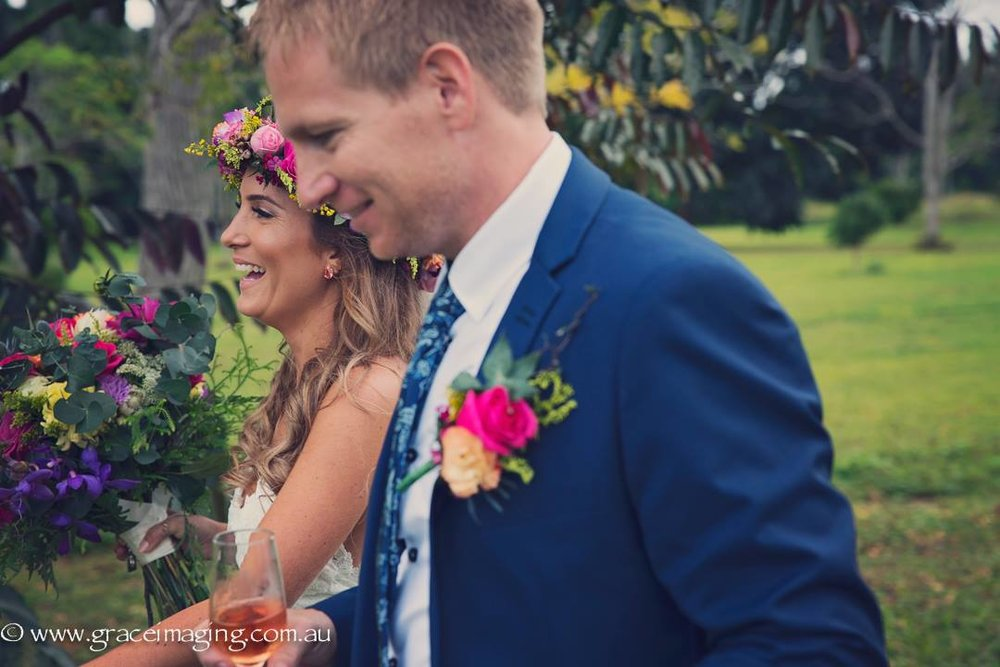 Real Bride Cara Castaways Mission Beach bohemian wedding - Makeup Artists Cairns
