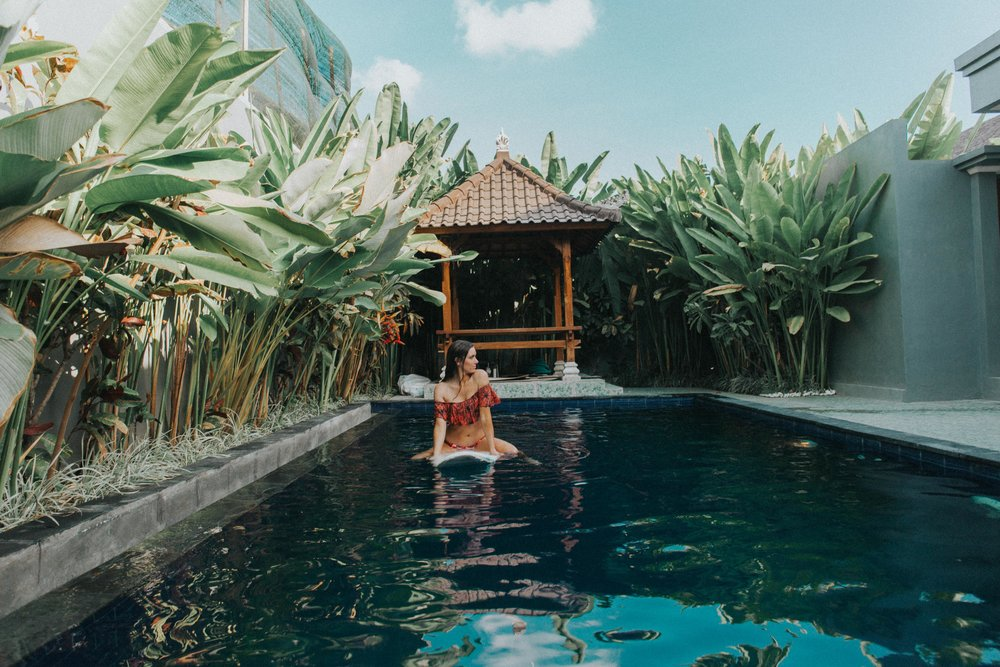 Our villa in Canggu that we got 20% off of because we booked the day of!