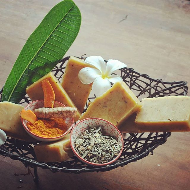 Our latest creation #tumeric and lemon myrtle handmade soap #wompooecoretreat #the tea chest # tumeric # lemon myrtle  # natural products  #daintree # inspired by plate of justice