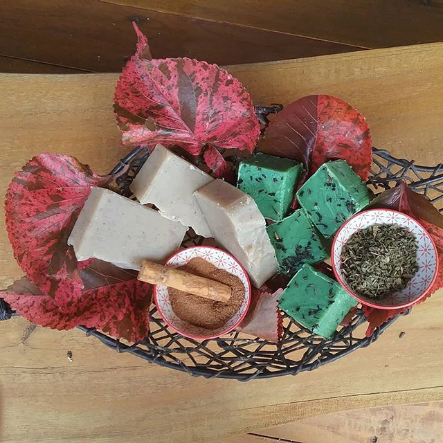 Our latest batch of hand made soap: ylang ylang, cinnamon and vanilla, a beautiful blend of oils creating earthy and sweet aromas. Also a fresh minty uplifting soap blended with #The Tea Chest's peppermint tea, absolutely gorgeous to use! #wompooecoretreat  #soap #port douglas daintree # daintree