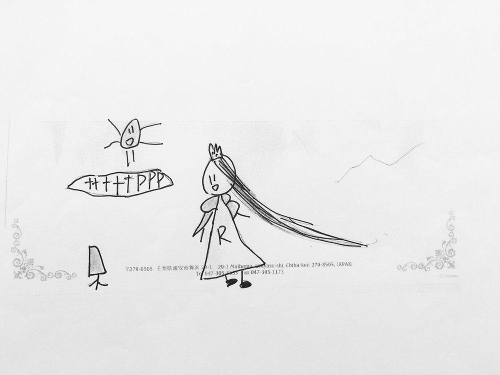 Rapunzel line drawings.JPG
