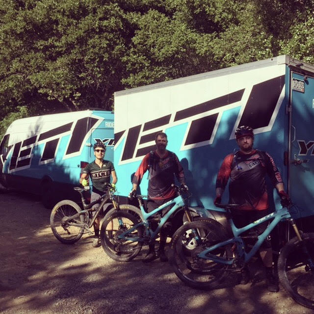 Thanks Yeti! - The Rhythm Bikes team got to try out Yeti's new bikes in Joaquin Miller Park!