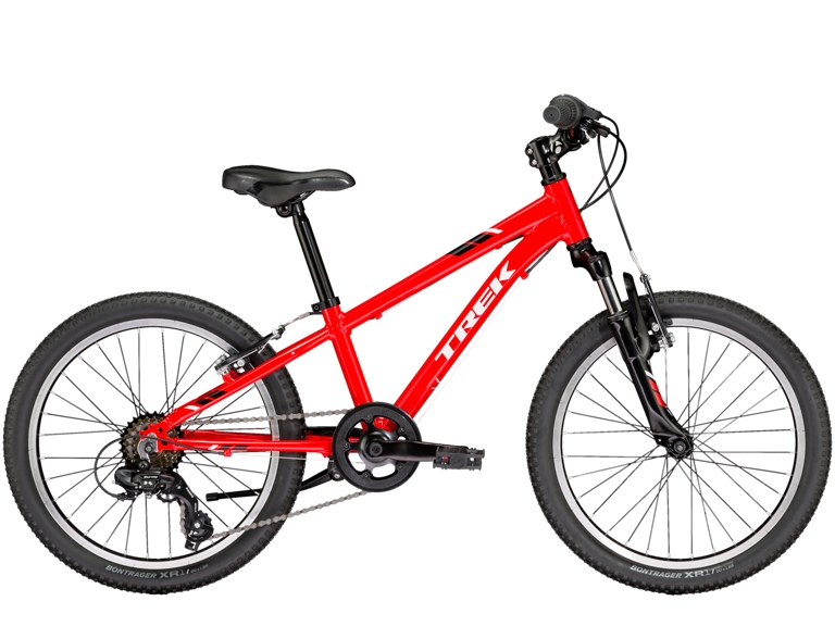 Precaliber 20 6-speed Boy's is a kid's mountain bike for young adventurers. A lightweight frame, knobby tires, and quality components like a front suspension fork, 6-speed gearing, and hand brakes are perfectly dialed to better fit small riders. For kids ages 6-8, between 45-52˝ tall.