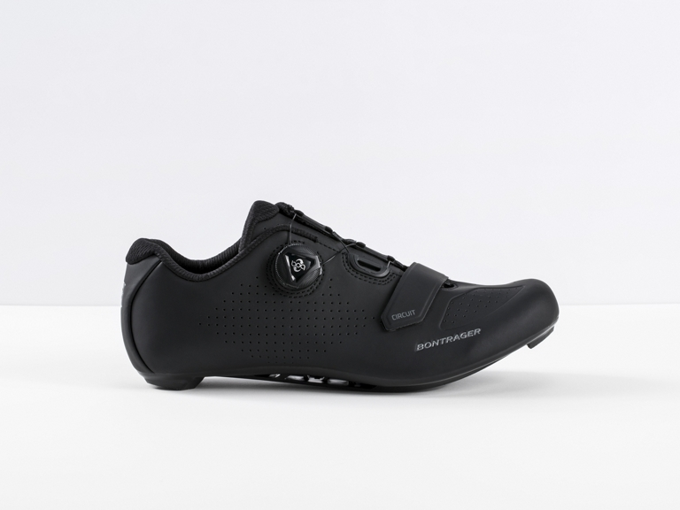 Circuit  Efficient, full-feature road cycling shoe with a roomy design for all-day comfort.
