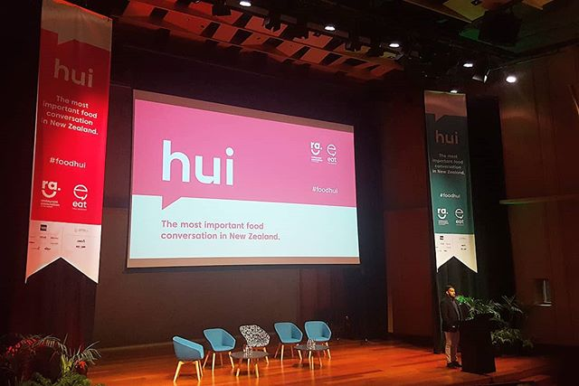 Settling in for a couple of inspirational days with some of our favourite foodies and innovators in NZ. #eatNZ #foodhui