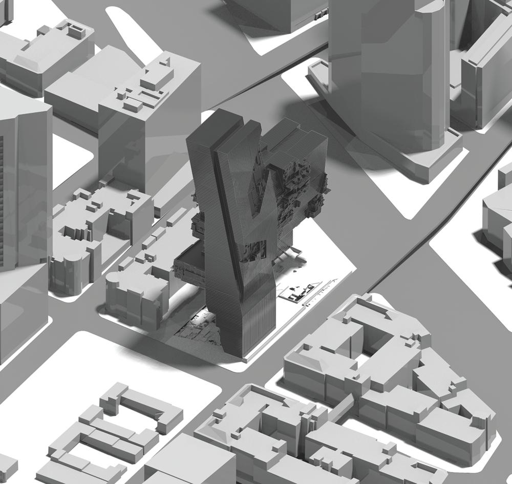 Reflective City Axonometric