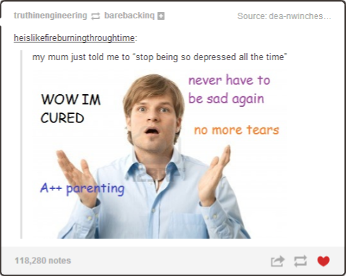 Stop Being So Depressed