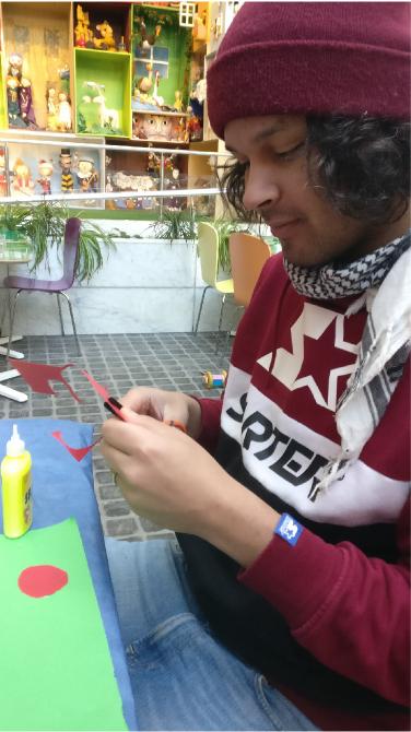 André järjestää Mini Kustannuksen kautta erilaisia lasten työpajoja ja muita tapahtumia.