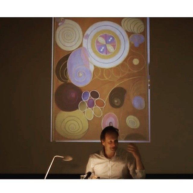 A picture from a lecture given by Daniel Birnbaum at the European Graduate School EGS in 2016  About the work of Hilma Af Klint. I enjoyed it and found it very interesting. Her work is special. https://youtu.be/CdC5OjRCp2Y . . . . . #EGS #europeangraduateschool  #danielbirnbaum #hilmaafklint #painting #spiritsource #expandingawarness #realdream #inspiration #womenartists #thedevinefeminine