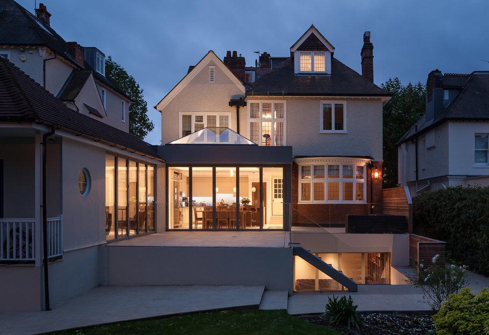 Edwardian Glass House - Back of house