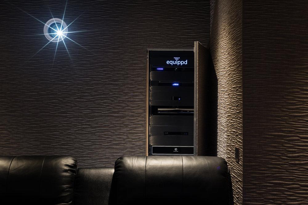 Equippd Hidden Cinema - Rack Open