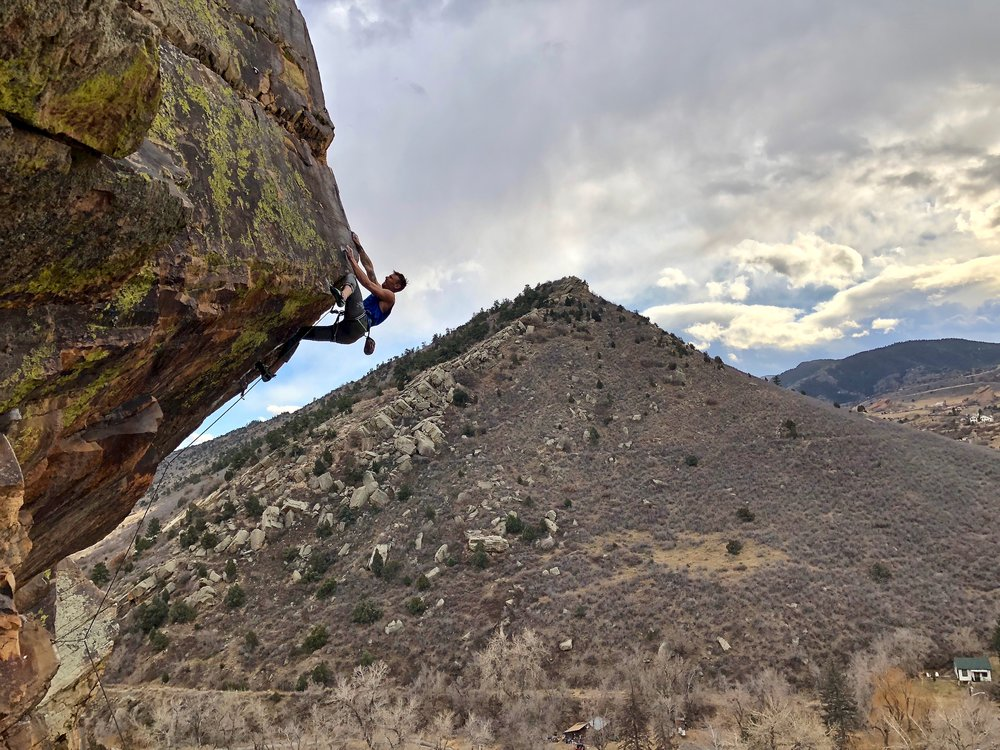 """My newest route in Morrison Colorado , """" A witness to violence """" 5.13c"""