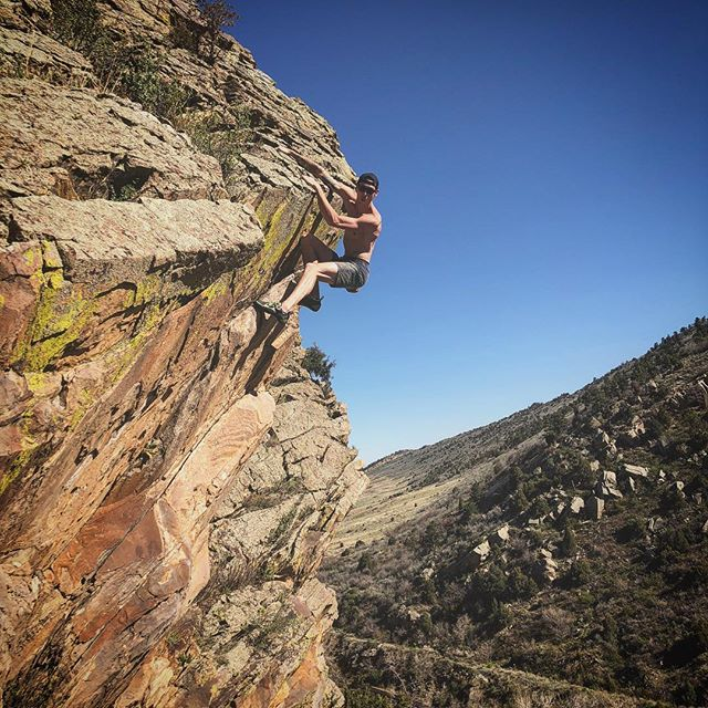 It's only a boulder problem. A boulder problem that has a 70 ft fall from the mantle. #airtime