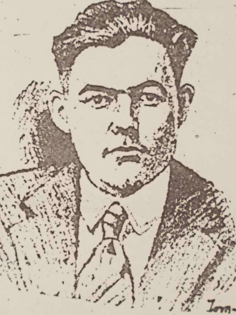 On the way to war - A Kansas City Star portrait of Hemingway, published in May 1918, as he was on his way to the ambulance service in Italy.