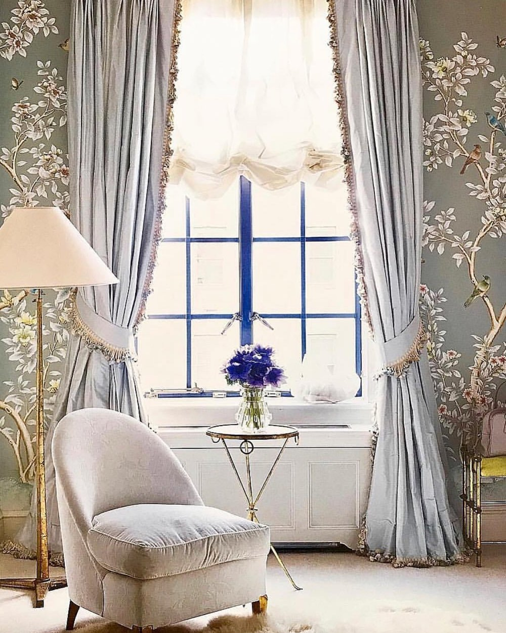 Interior Desing by @aerin Wallpaper by @graciestudio