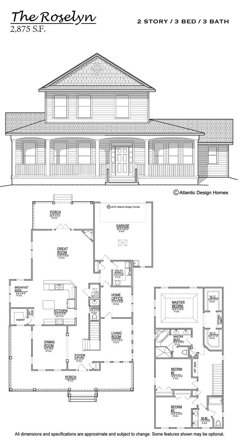 Floor Plans — Atlantic Design Homes