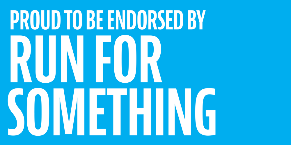 run for something endorsement