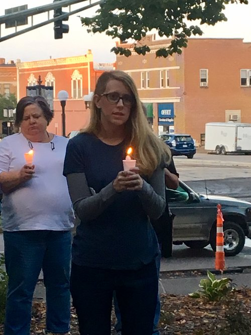 Candlelight Vigil for Charlottesville in New Ulm, MN